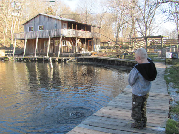 Boy fishing at MSTP